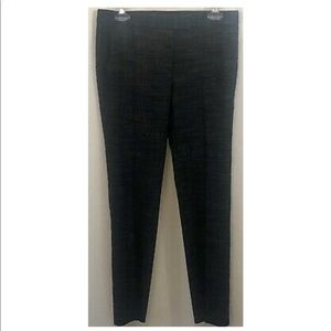 Ann Taylor Pleated Knit Black White Tapered Pants